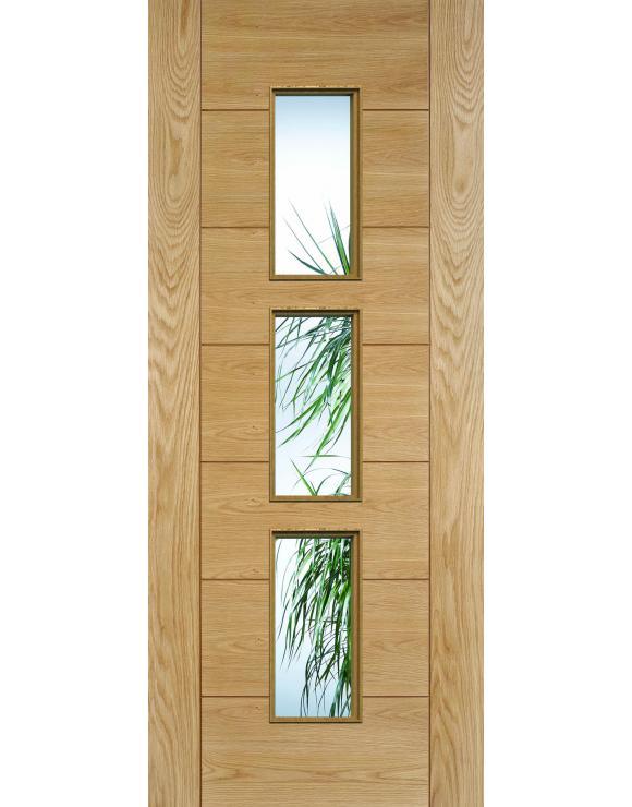 Hampshire Glazed Pre-Finished Oak Interior Door image