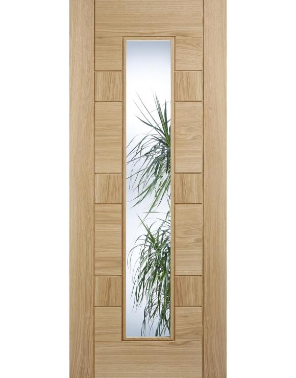 Edmonton Glazed Pre-Finished Oak Interior Door image