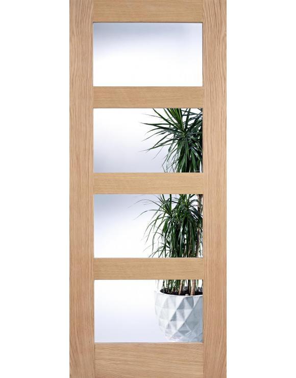 4L Clear Glazed Oak Interior Door image