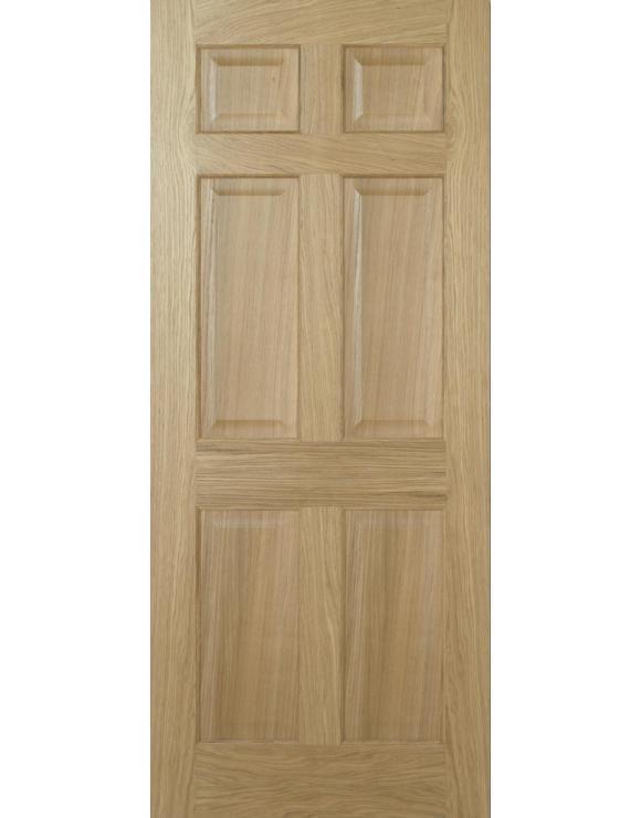 Regency 6P (Equal Panel) Oak Interior Door image