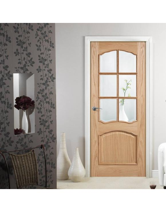Riviera Glazed Oak Interior Door image