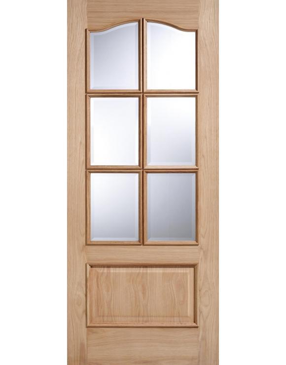 Kent 6L RM2S Glazed Oak Interior Door image