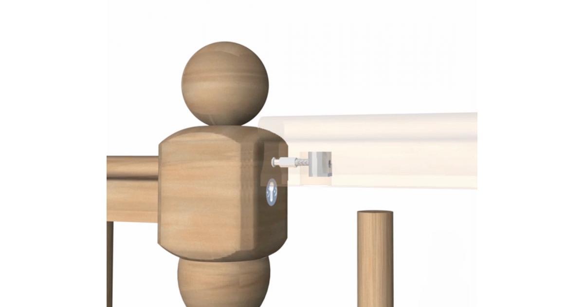 Slip Fix Handrail To Newel Post Fixing Kit Zip Bolt