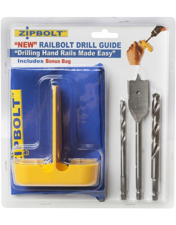 Zipbolt Rail Bolt Drill Guide for Handrail Fixings image