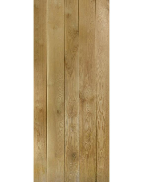 Primed Solid Oak Ledged Interior Door image