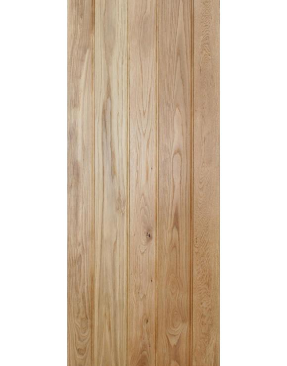 Solid Oak Button Bead Ledged Interior Door image
