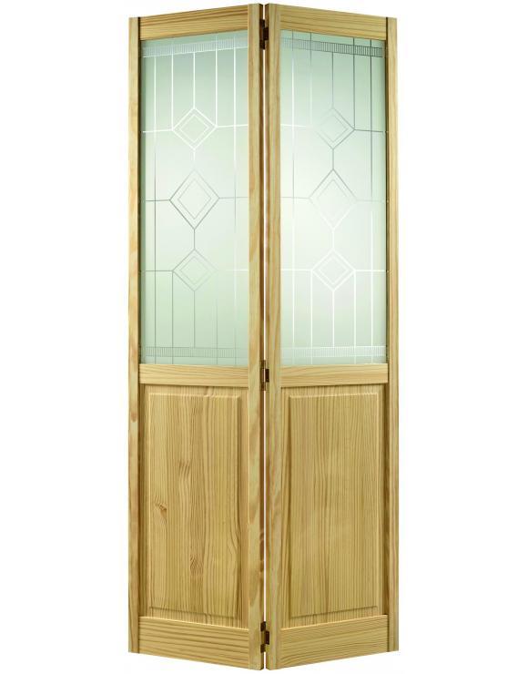 2P/2L Bi-Fold Clear Pine Interior Door image