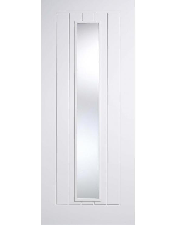 Mexicano Glazed Solid White Primed Interior Door image