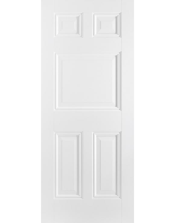 Paris 5P Solid White Primed Interior Door image