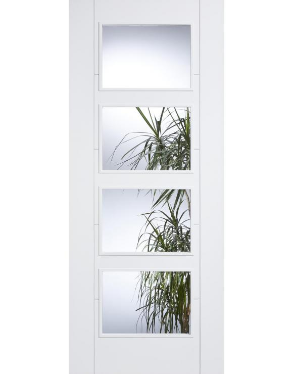 Vancouver 4L Clear Solid White Primed Interior Door image