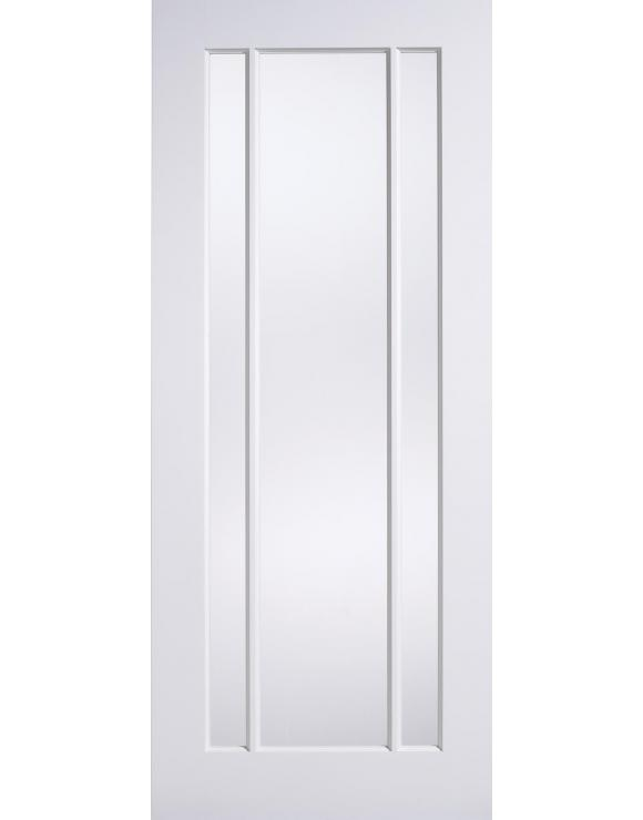 Lincoln Glazed Solid White Primed Interior Door image