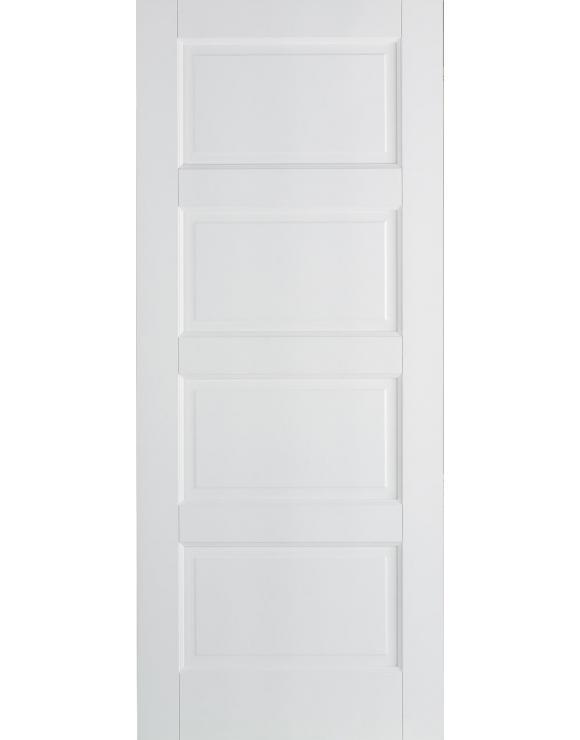 Contemporary 4P Solid White Primed Interior Door image