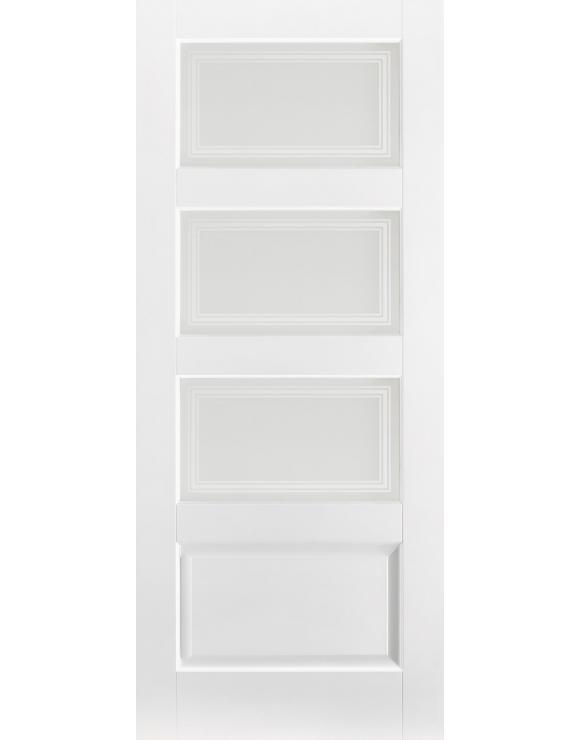 Contemporary 3L/1P Solid White Primed Interior Door image