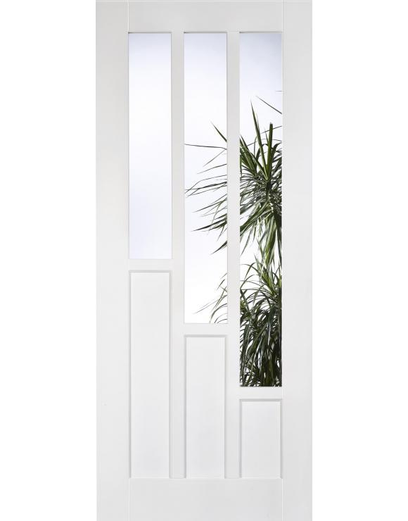 Coventry Glazed Solid White Primed Interior Door image