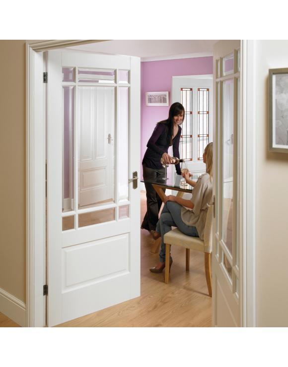 Downham Solid White Primed Interior Door image