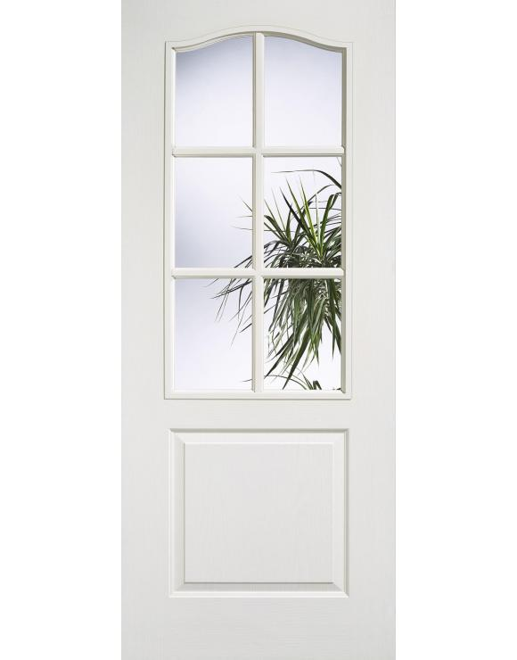 Classic 1P/6L Glazed White Moulded Interior Door image