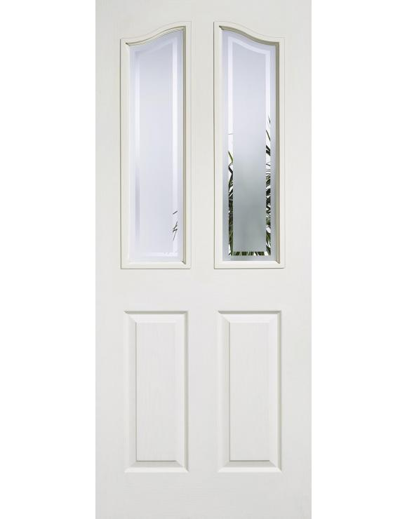 Mayfair 2P/2L Glazed White Moulded Interior Door image