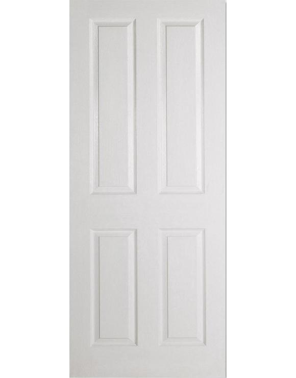 Textured 4P White Moulded Interior Door image