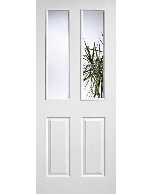 Pre-Glazed 2L/2P White Moulded Interior Door image