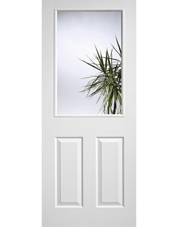 Pre-Glazed 1L/2P White Moulded Interior Door image