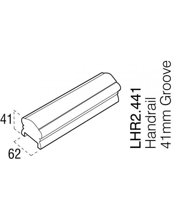 Oak 41mm Low Profile Hand Rail Select 2400mm image