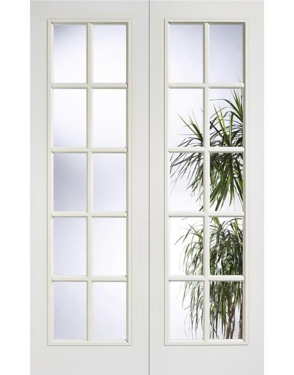 78X46 WHITE MOULDED 10 LITE GLAZED PAIR image