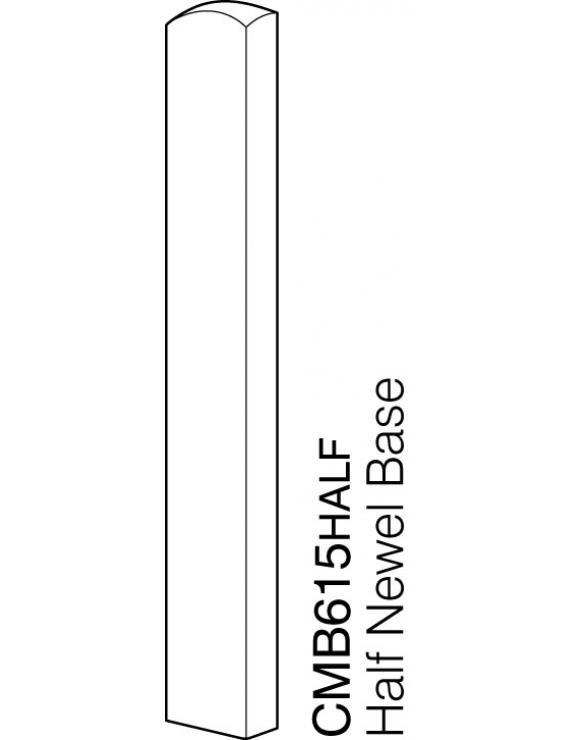 Pine 90mm Newel Base 615mm image