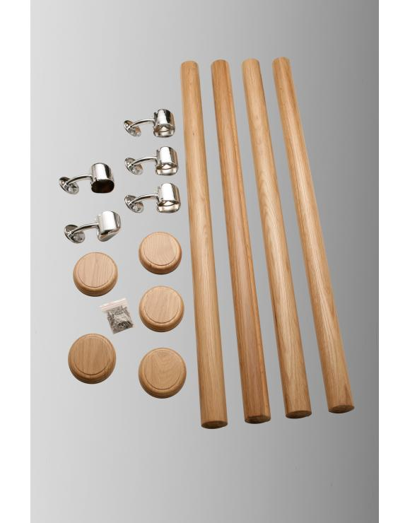 AXXYS Wall Mounted Handrail Kit 4000mm Select Timber and Metal Finish image