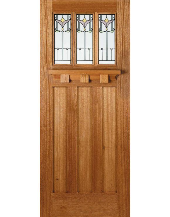 Tuscany Tulip Hardwood Exterior Door image