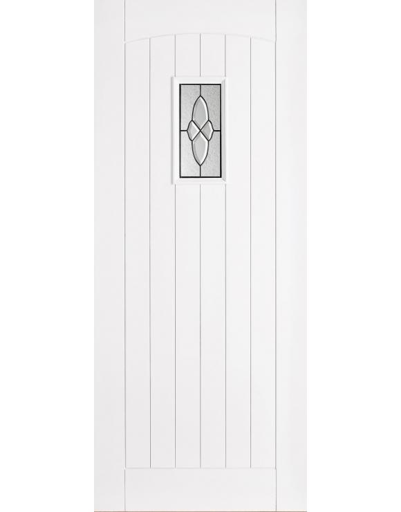 Cottage Lead White Part Finished Exterior Door image