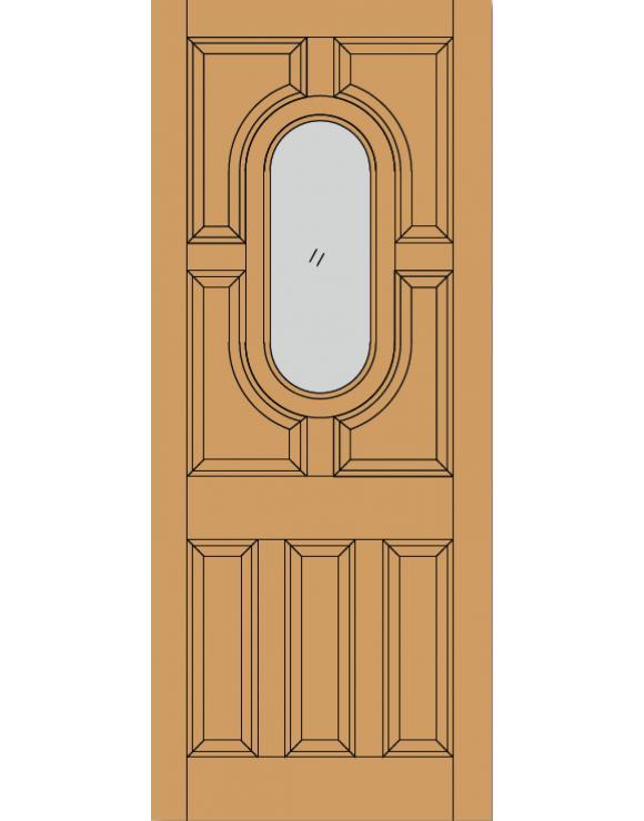 Acacia Dowel Hardwood Exterior Door image