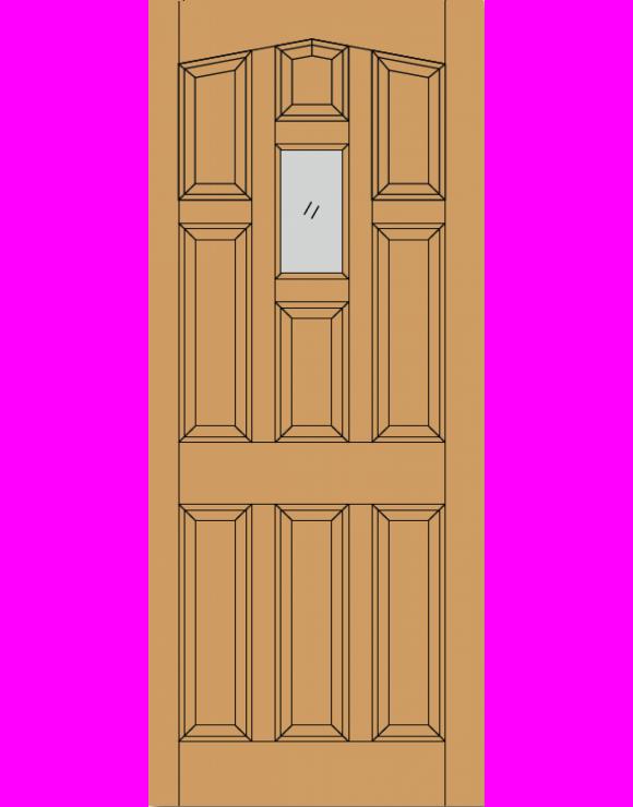 York M&T Hardwood Exterior Door image