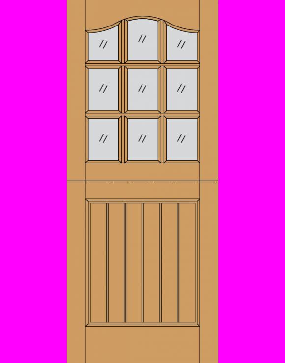 Stable 9L M&T Hardwood Exterior Door image