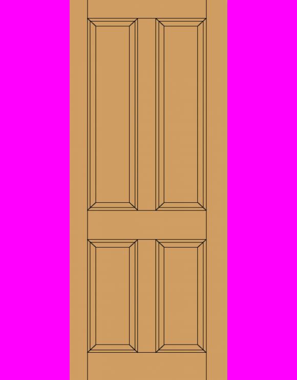 Colonial 4P M&T Hardwood Exterior Door image