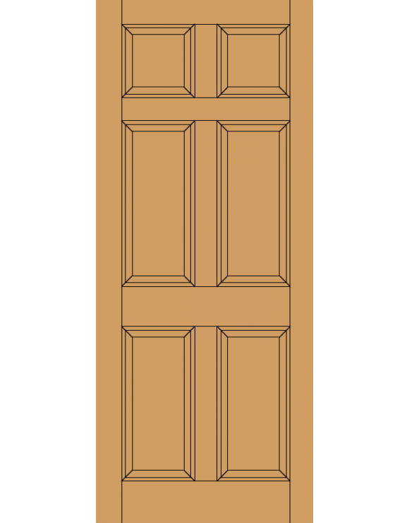 Colonial 6P M&T Hardwood Exterior Door image
