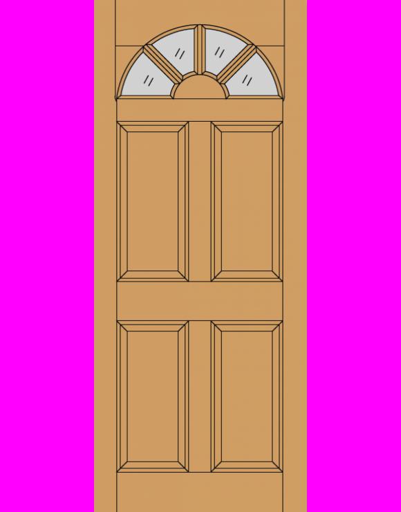 Carolina 4P M&T Hardwood Exterior Door image