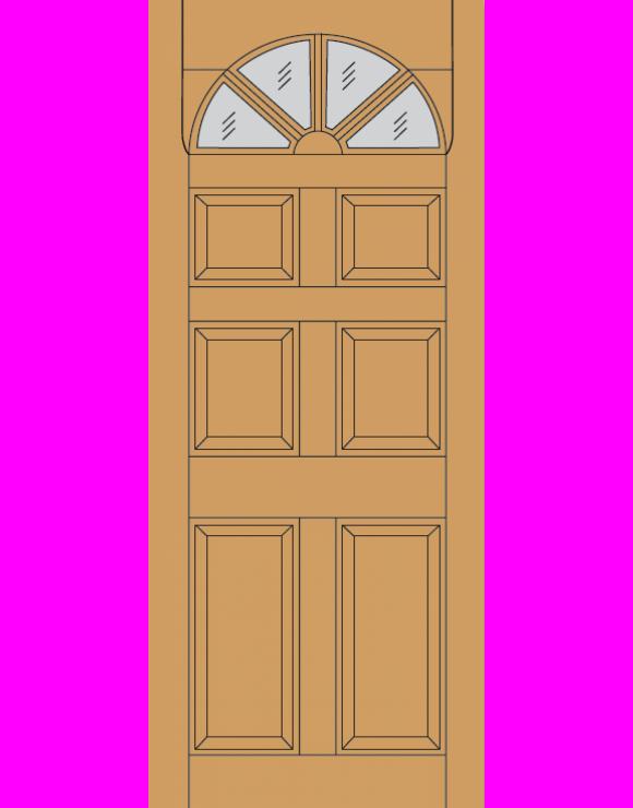 Carolina 6P Dowel Hardwood Exterior Door image