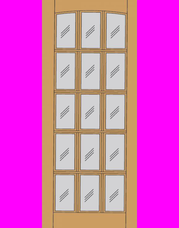 Dakota Dowel Hardwood Exterior Door image