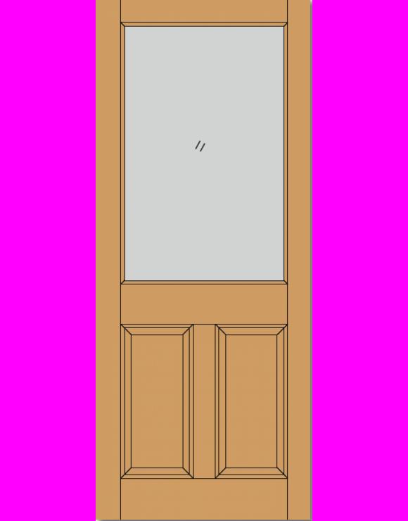 2XG 2P M&T Hardwood Exterior Door image