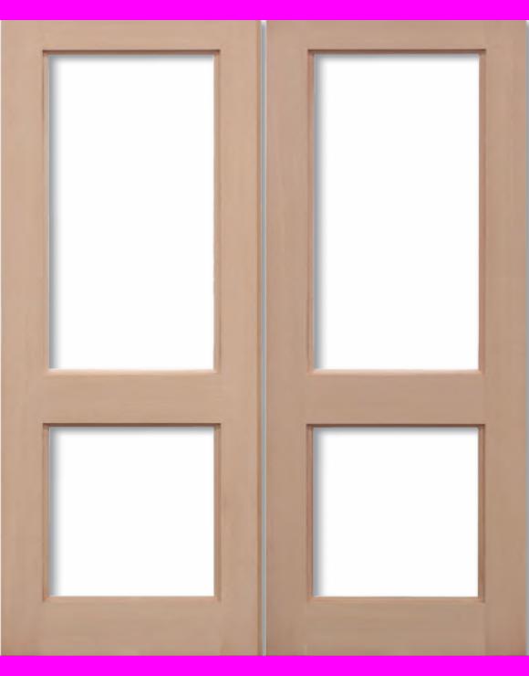 2XGG Hemlock Pairs Unglazed Exterior Door image
