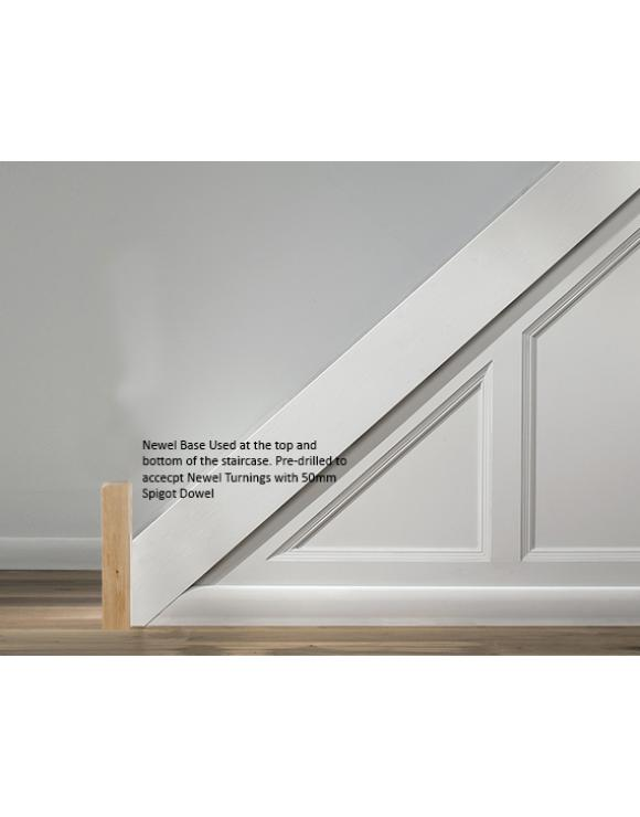 90mm Newel Base Select Length and Timber image