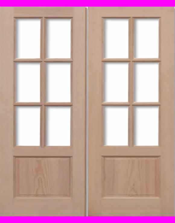 GTP 2P Hemlock Pairs Unglazed Exterior Door image