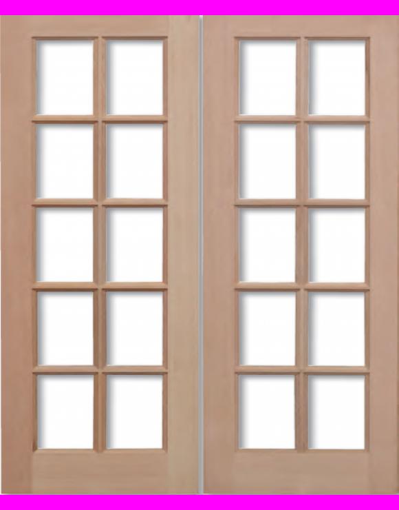 GTP Hemlock Pairs Unglazed Exterior Door image