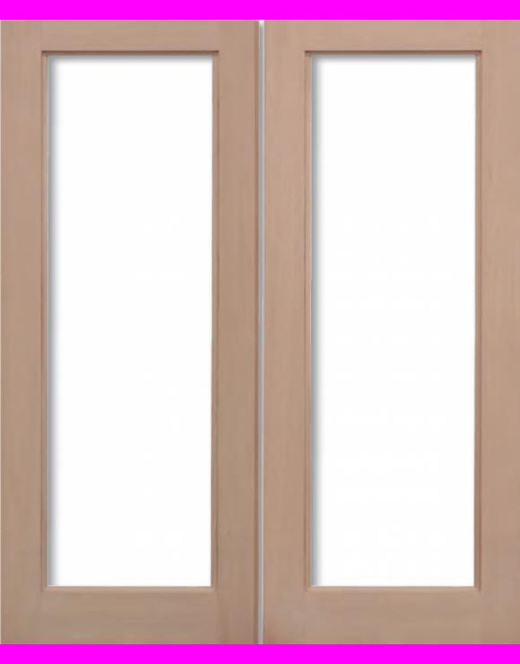 Pattern 20 Hemlock Pairs Unglazed Exterior Door image