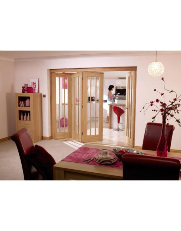 NUVU Roomfold Interior Oak Frame Set 3+1 image