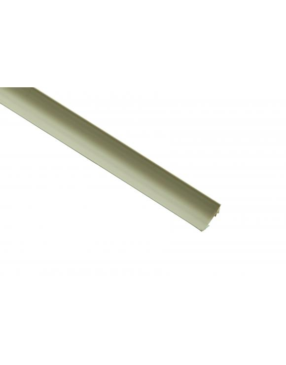 White PVC Plastic Scotia 18mm x 18mm image