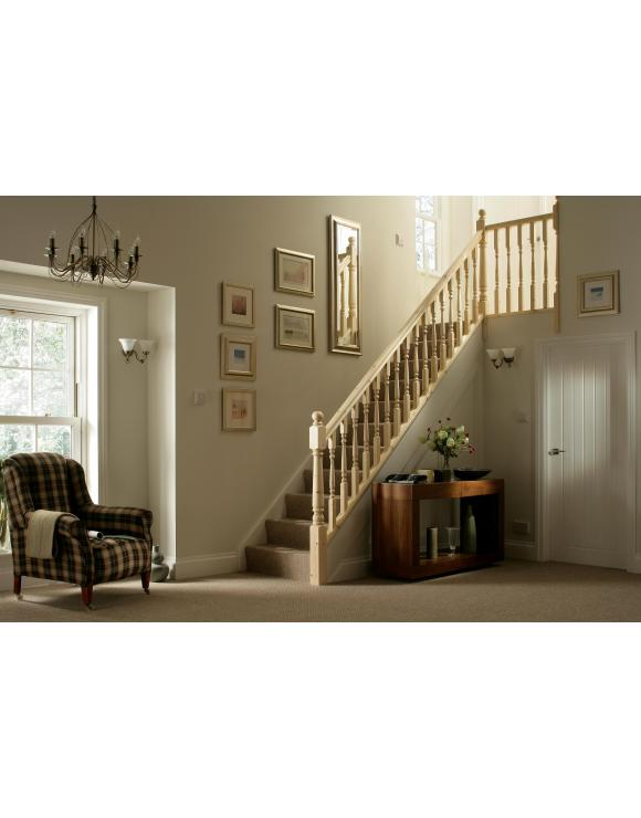 90mm Turned Colonial Complete Newel Post 1500mm image