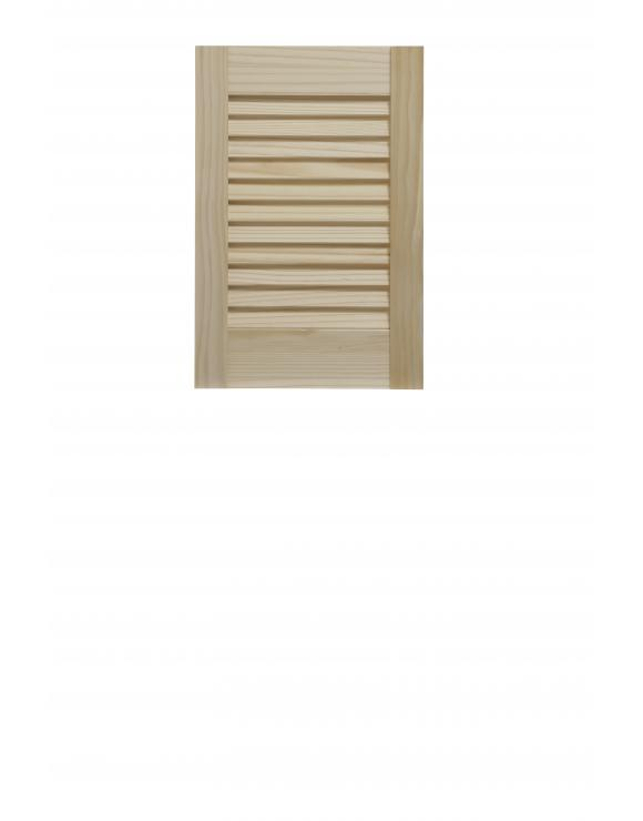 "Pine Open Louvre Door 18"" High image"