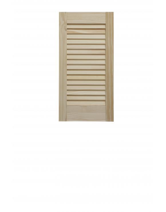 "Pine Open Louvre Door 24"" High No Centre Rail image"