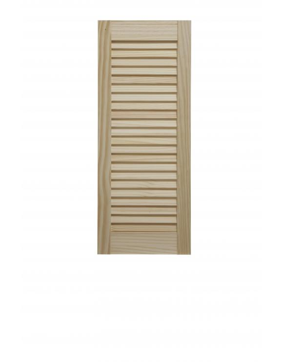 "Pine Open Louvre Door 30"" High image"
